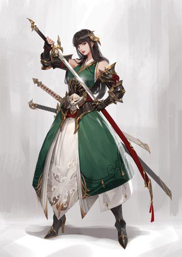 三刀流的武士女孩