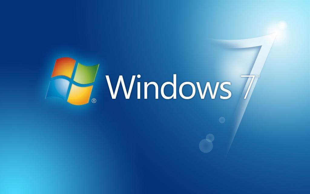 操作系统,蓝色,Windows 7