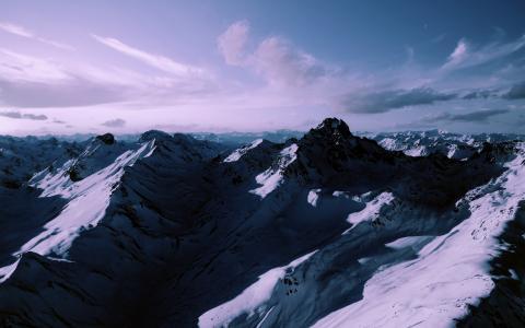 山脉,山脉,雪山