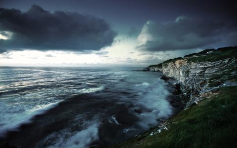 西,海岸,壁纸