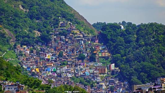 德,里约热内卢,山,房子,壁纸