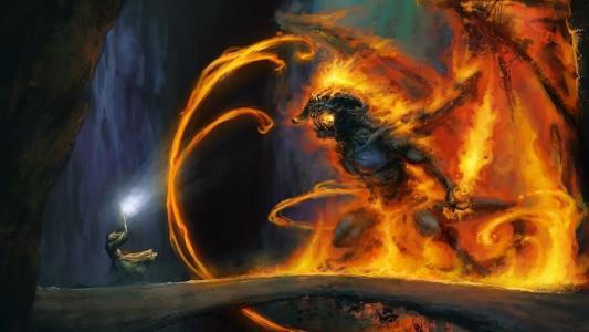 戒指之王,金达尔,魔法师,怪物,驳船,火