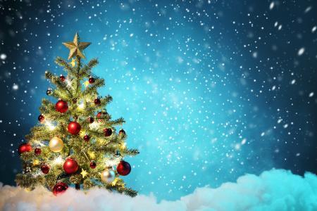 圣诞快乐,圣诞装饰,圣诞树,新的一年
