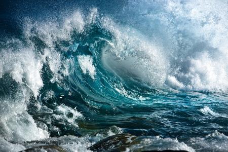 泡沫,波浪,海
