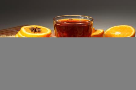 橘子,肉桂,杯子,茶