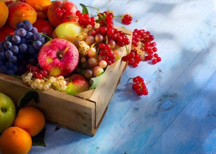 水果,浆果,苹果,葡萄,葡萄干