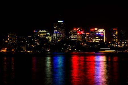 城市,灯,悉尼,悉尼,澳大利亚,澳大利亚,城市,水