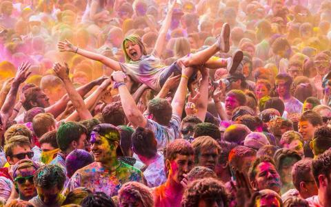 颜色节日,我们,犹他州,salem,颜色节日