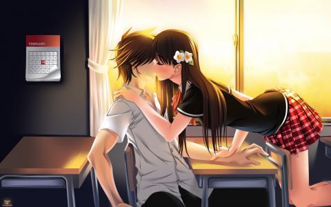 夫妇,吻,壁纸