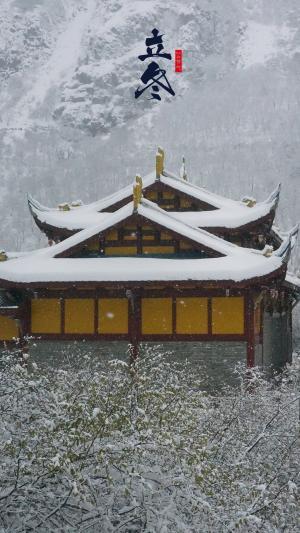 传统节气立冬美景