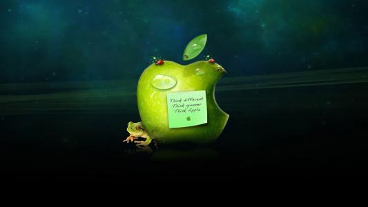 苹果,壁纸