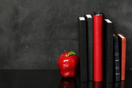 笔记本,办公室,对象,水果,苹果