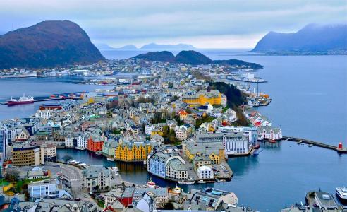 俯瞰挪威美景