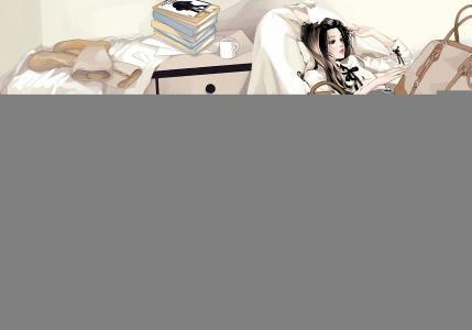 女孩,手提箱,包包,鞋子,长筒袜,行李箱,靴子,书籍,马克杯,雏菊