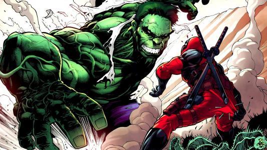 奇迹,漫画,枪,忍者,英雄,绿巨人,халк,死水池