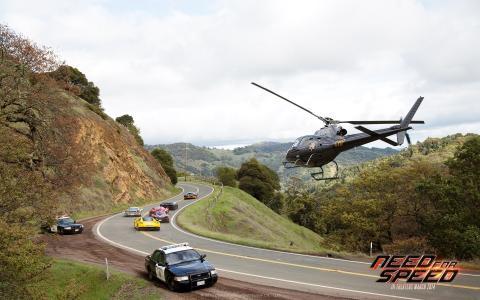 极品飞车,渴望速度,高速公路,直升机,汽车