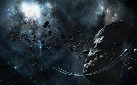 空间石头,星星