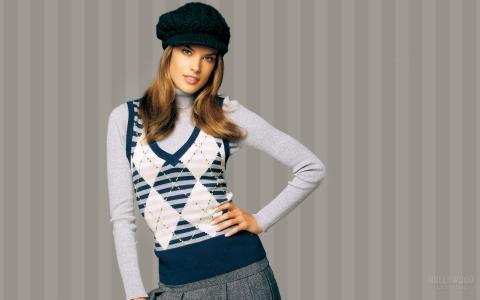 Alessandra Ambrosio,模特,贝雷帽,Alessandra Ambrosio,维多利亚秘密