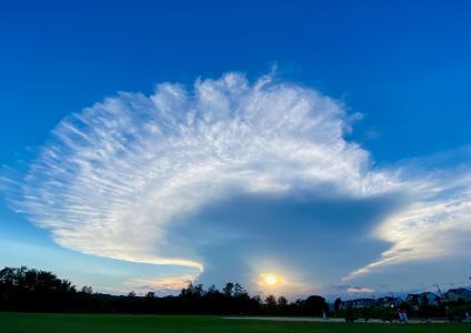 蓝天下的唯美云彩