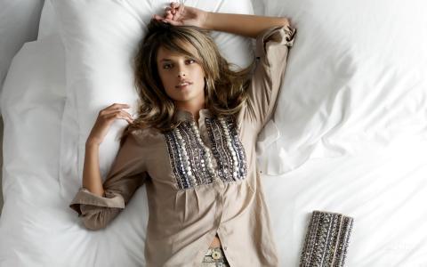 Alessandra Ambrosio,模特儿,床,Alessandra Ambrosio