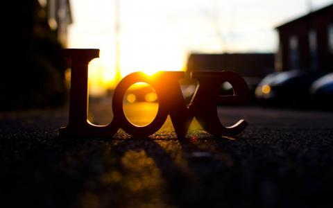 爱,信件,街道,路,太阳,爱,心情