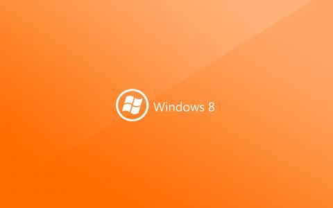 Windows 8,电脑,微软,标志,橙色