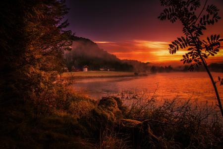 roguel,海岸,河,罗加兰,挪威
