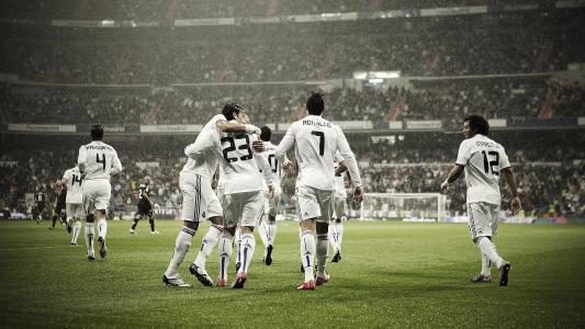真正的马德里,球队,足球运动员,雨,真正的马德里