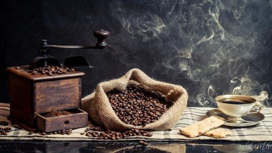 咖啡,咖啡豆,咖啡研磨机,杯