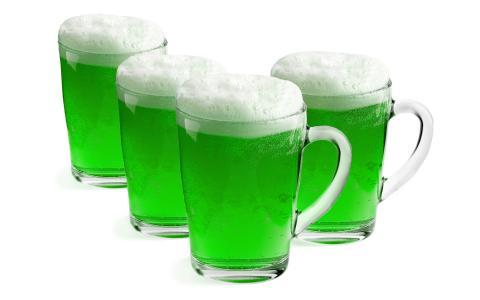 啤酒,绿色,眼镜