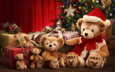 新年,假期,熊