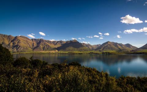 新西兰,山,湖,水,自然