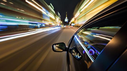 壁纸,汽车,速度,夜晚的城市,灯光,城市,道路,高速公路,公路,道路