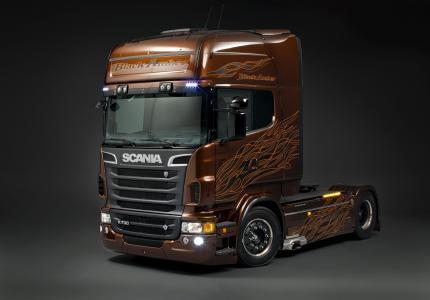 斯堪尼亚r730黑琥珀,斯堪尼亚卡车,斯堪尼亚,p730,拖拉机