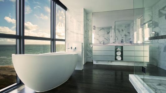 浴室,设计,壁纸