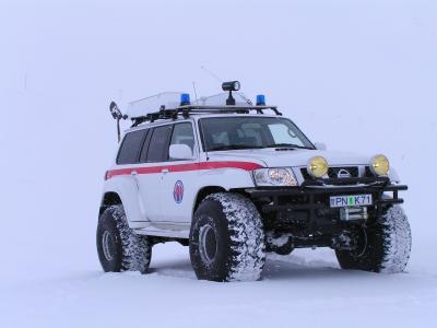 日产巡逻,冬天,机器,雪,越野,日产