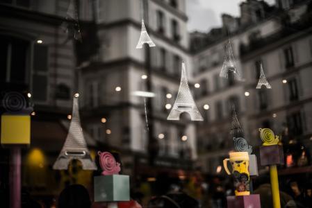 镇,小巴黎,反射