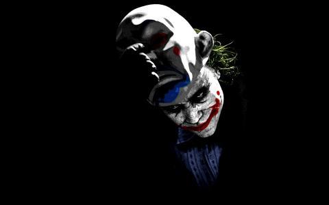 面具,小丑,黑暗骑士,击中帐簿,小丑