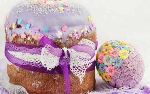 复活节,蛋糕,装饰,鸡蛋