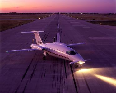 飞机,晚上,晚上,天空,灯,起飞,带