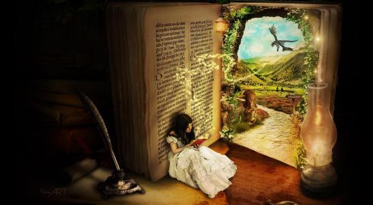 读一本书的女孩