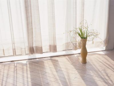 花瓶,鲜花,薄纱,窗口,地板