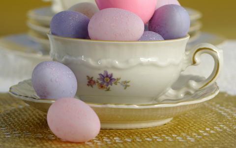 丰富多彩的蛋,碗