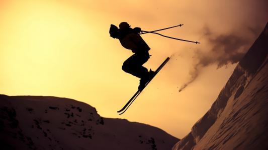 滑雪,壁纸
