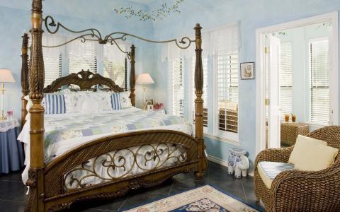 风格,复古,卧室,床