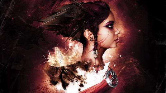 女孩,皇冠,猫,金字塔,战士,头骨