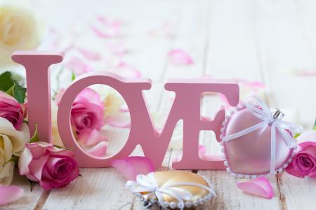 情人节,情人节,鲜花,玫瑰,心,爱,信件