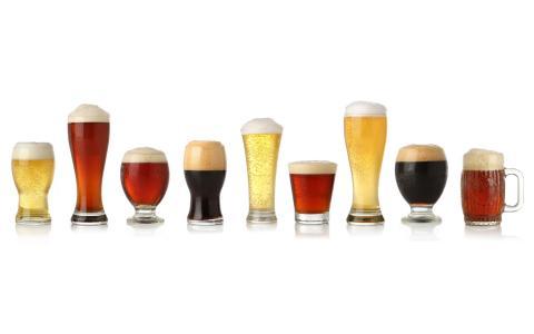 啤酒,眼镜,光线,黑暗