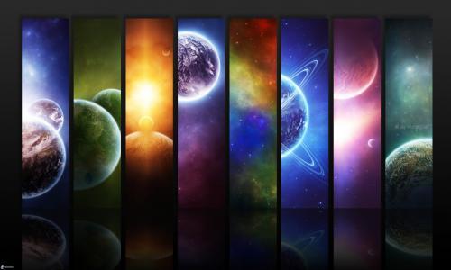空间,星云,行星,天体