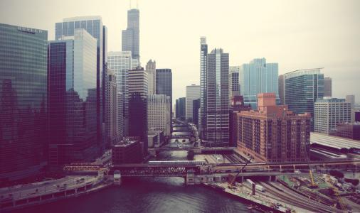 伊利诺伊州,城市,芝加哥,河流